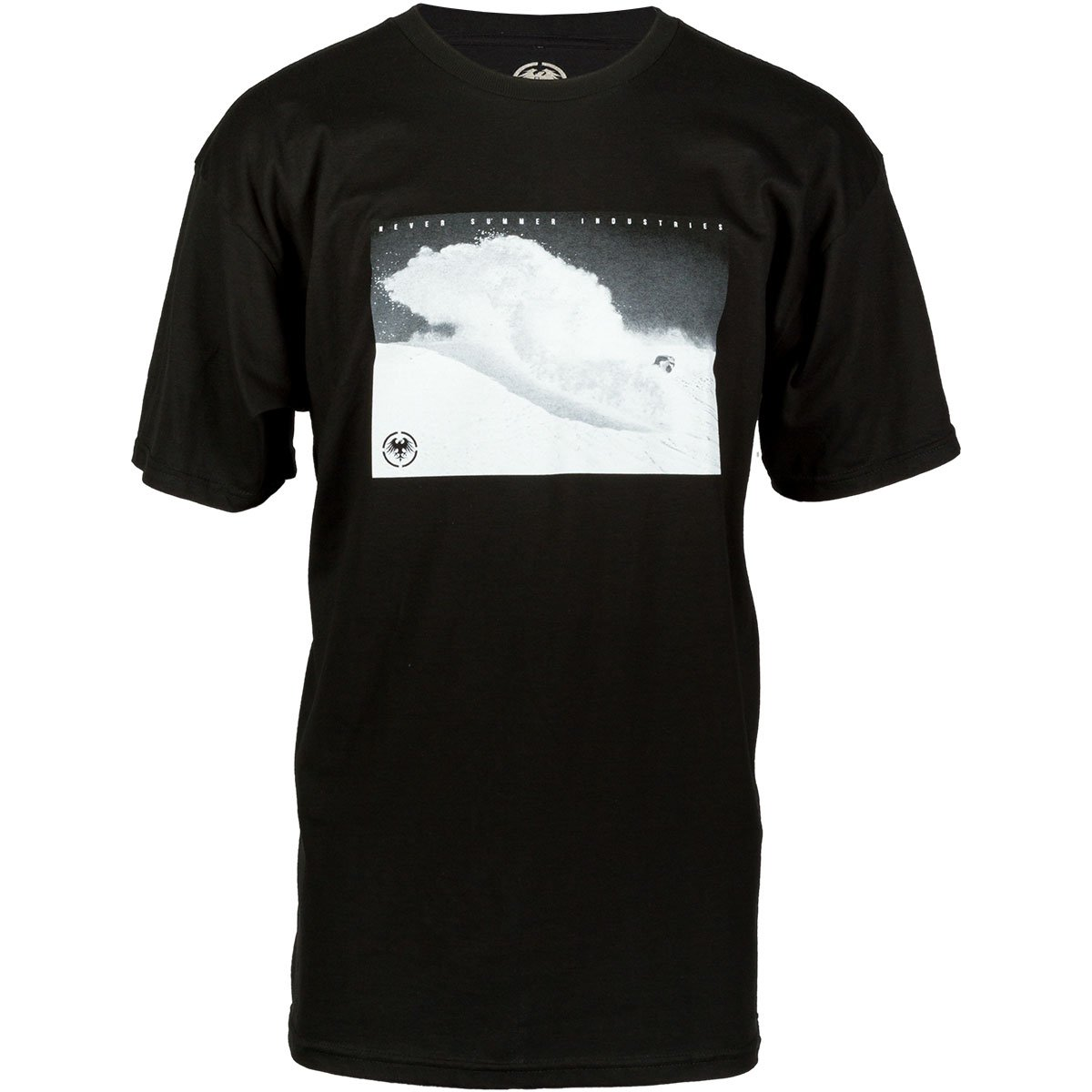 Never Summer Slasher Photo Short Sleeve T-Shirt (X-Large, Black)