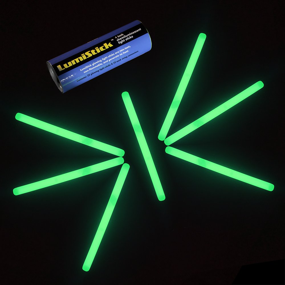 Lumistick 4 Inch Glow Sticks with Detachable Connector and Strings Red, 25 Kid Safe Non-Toxic Neon Glowstick Party Pack Available in Bulk and Color Varieties Keeps Glowing up to 12 Hours