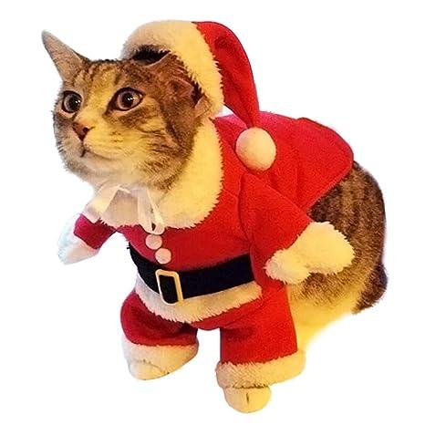 Feidaeu Navidad Perro Ropa Lindo Disfraz Santa Claus ...
