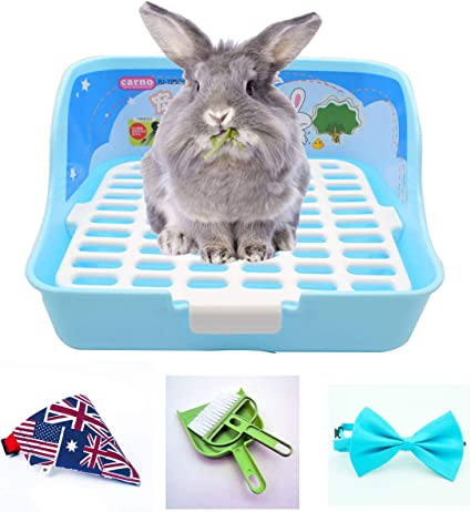 Cat Litter Tray Folding for Toilet Box Pet Large Rabbit Animal Potty Hamster Color : Green