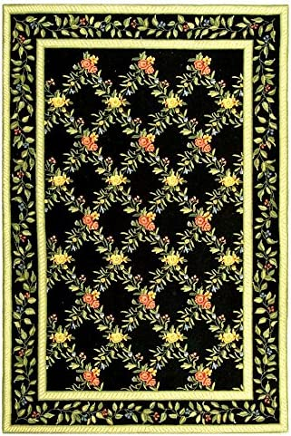 Safavieh HK60 Chelsea Area Rug 11 9 L x 8 9 W Large Rectangle Black