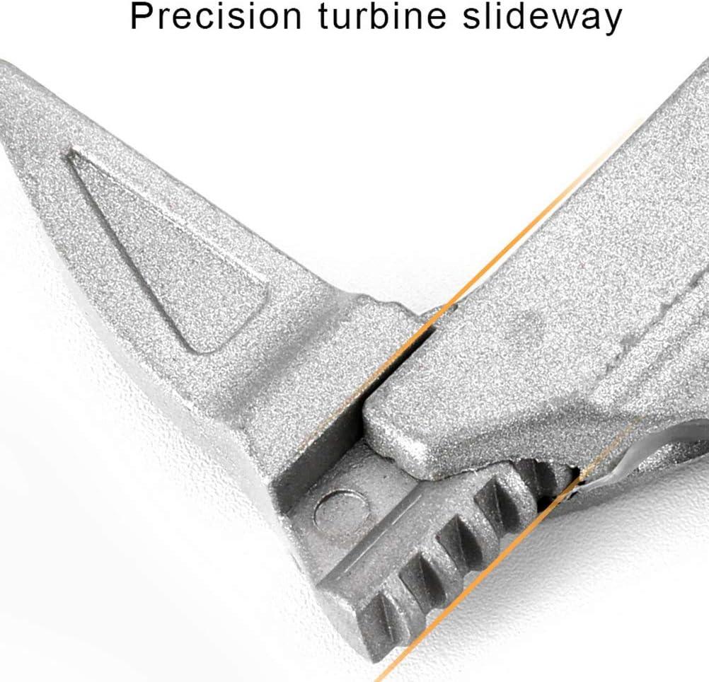 aleaci/ón de aluminio Llave ajustable de 6 a 68 mm de ancho para ba/ño herramientas manuales para apretar o aflojar tuercas y pernos Kuou