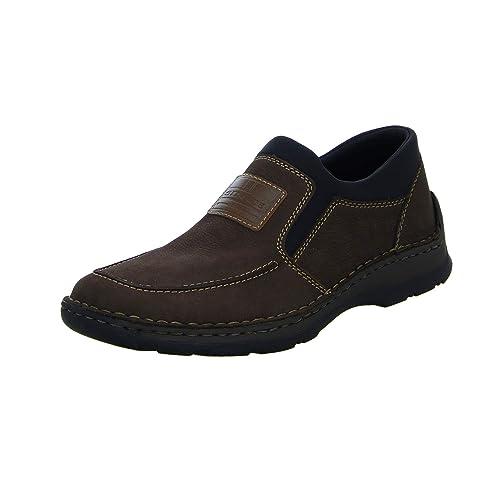 schön in der Farbe Neues Produkt lässige Schuhe Rieker Herren 05352-29 Obermaterial Leder Slipper