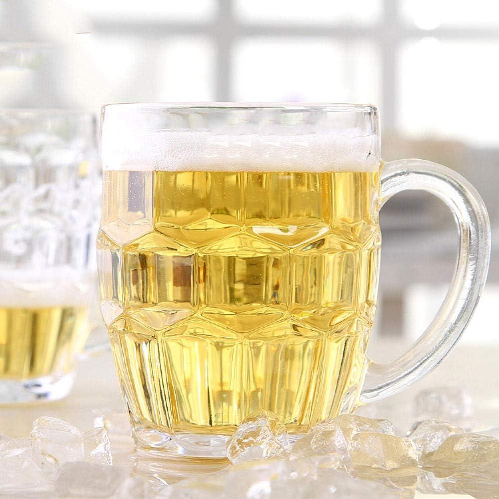 KAILIDE Jarras De Cerveza Vasos De Cerveza Cristal Sin Plomo Corbata De Cerveza Cinturón De Cerveza Gran Comedor Bebida Bar Vino Conjunto,250Ml
