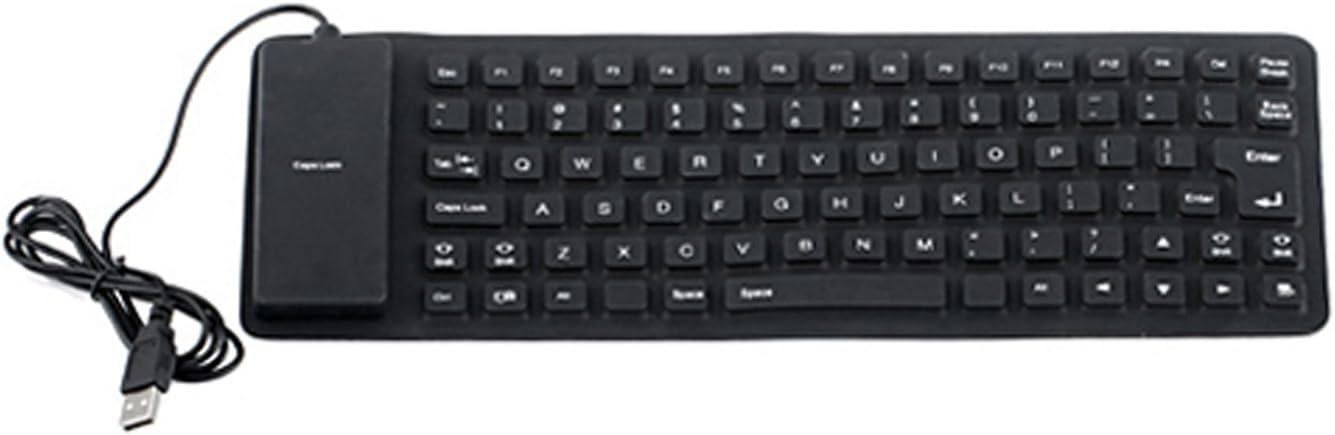 HDE G29 - Teclado (USB, Portátil, Derecho, Negro, Silicona, Resistente al Polvo, Resistente a rayones, Resistente al Agua)