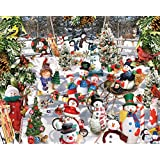 White Mountain Puzzles Snowmen - 1000 Piece Jigsaw Puzzle