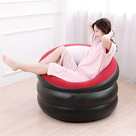 HAL Puff Asiento PVC Inflable Solo Cilindro Inflable Flocado Sofá ...