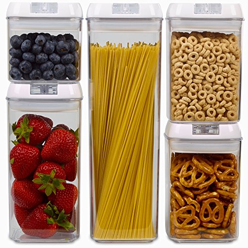 1790 Dry Food Storage Containers with Lids - Airtight Containers (5 Pack)