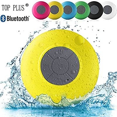 Brotherood Water Resistant waterproof Bluetooth Smart Speaker Handsfree Portable with Built-in Microphone for Showers, Pool, Beach, & Outdoor (Yellow)