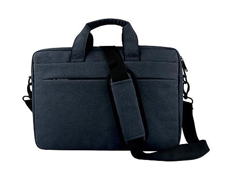 f7ae838c6ff EasyHui Nylon Laptop Bag Laptop Messenger Case Women Men Business Office Bag  Functional Shoulder Bag Blue