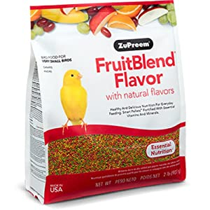 ZuPreem FruitBlend Flavor with natural flavours Essential Nutrition for Very Small Bird