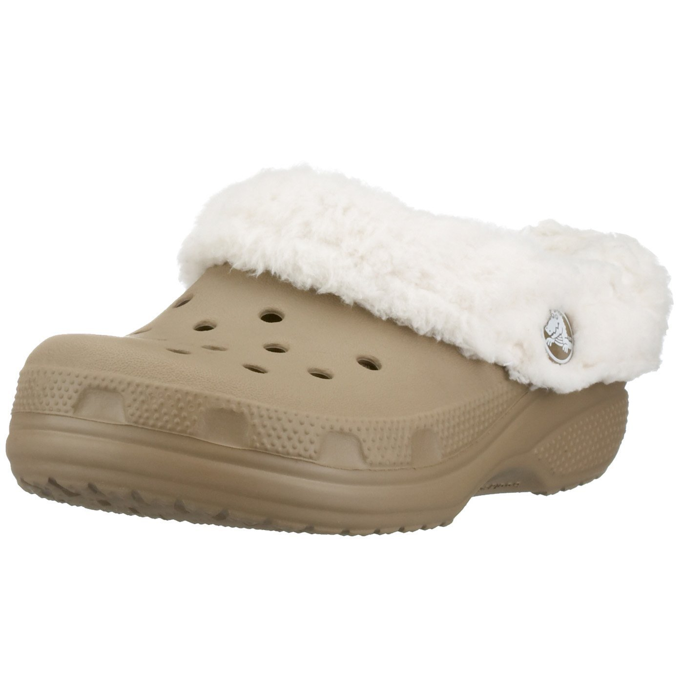 Crocs Mammoth Shearling Clog (Toddler/Little Kid),Khaki/Oatmeal,6-7 M US Toddler