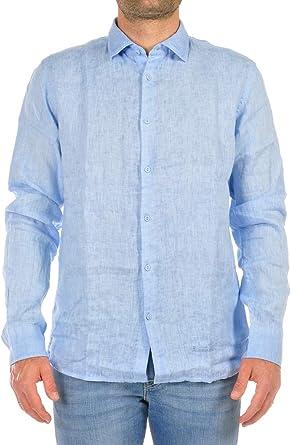 ALESSANDRO LAMURA Camisa de hombre azul celeste RHOMBUS66 azul celeste L: Amazon.es: Ropa y accesorios