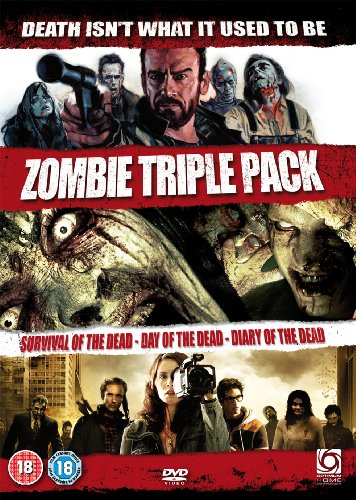 Zombie Triple - Survival Of The Dead & Day Of The Dead (Remake) & Diary Of The Dead [DVD] (18)
