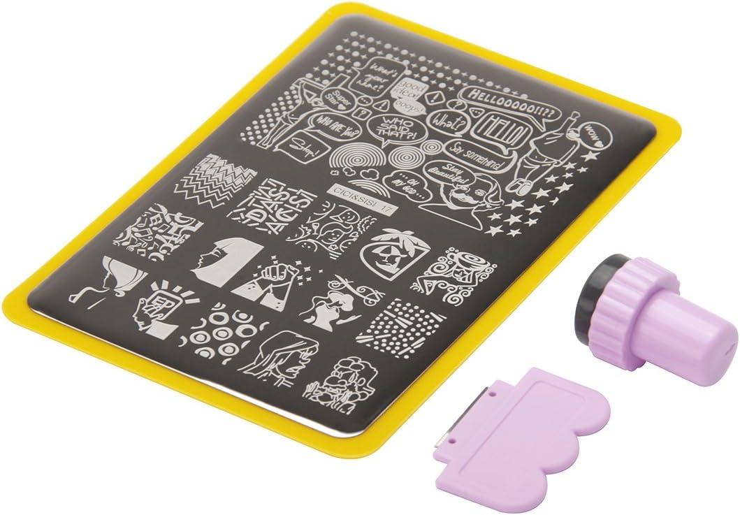 CICI y SISI Nail Art Sello Collection Set Jumbo 3 Set de 6 JUMBO Nailart polaco Stamping Manicura imagen Placas Accesorios Kit Todos los nuevos diseños con GRATIS Stamper y RASPADOR herramientas