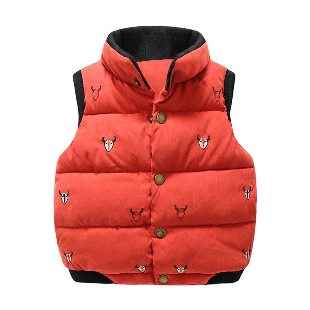 SPRMAG Boys Cartoon Animals Turtleneck Vest Waistcoat Cotton Coats Made in China
