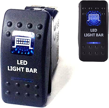FAHRLEUCHTEN Keenso 12V Blau LED On Off Rocker Kippschalter Licht Lichtleiste Wippschalte