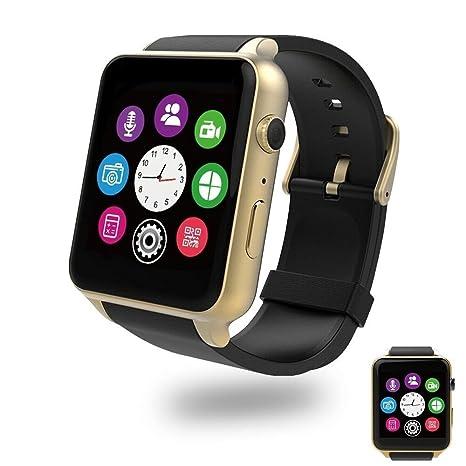Amazon.com: zzy reloj inteligente con bluetooth Dual Ranuras ...