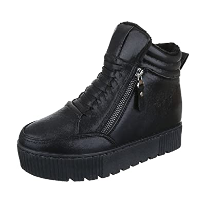 Ital-Design High-Top Sneaker Damen-Schuhe High-Top Keilabsatz/Wedge