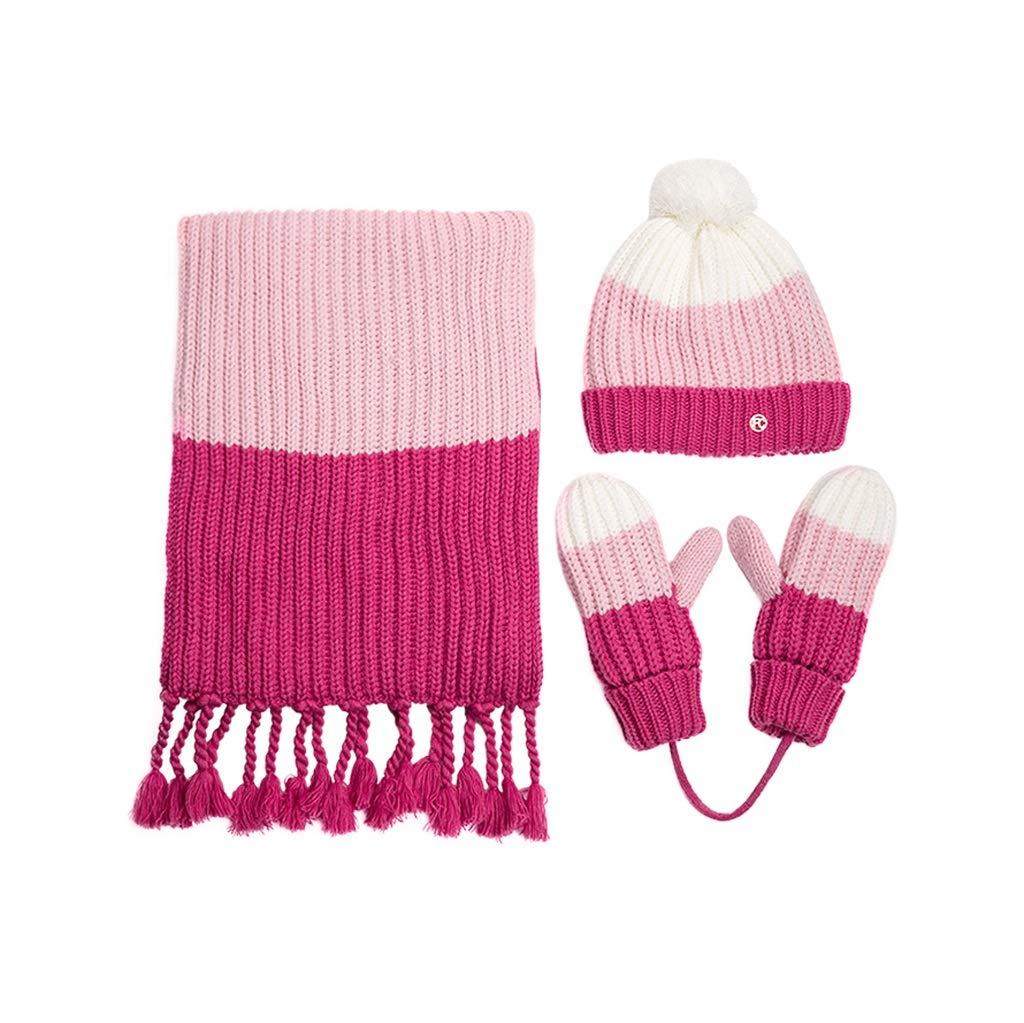 冬のファッションニットスカーフ帽子3ピース B07KQ5GYPX