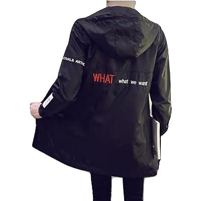 R.Y.A.R メンズ ファッション スプリングコート フード付き 人気 秋 春 ジャケット アウター 旅行 オータム スプリング コート シャツ 上着 ブラック 黒 M L XL 2XL 3XL 4XL 5XL