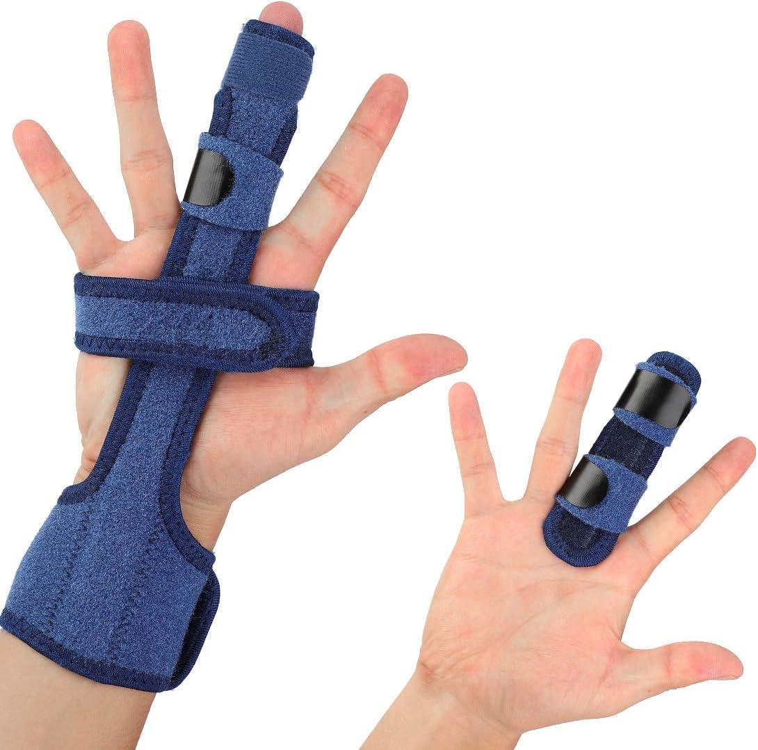 Férula de Dedo en Gatillo, Dedo Extensión Férula para Dedo en Gatillo, Dedo de Martillo, Fracturas de Dedos, Cuidados Postoperatorios y Alivio del Dolor Soporte para Dedo Férula la Mano
