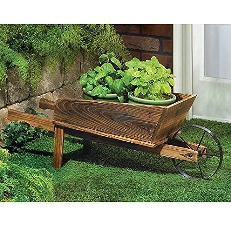 Amazon Com Old Fashioned Wheelbarrow Planter Garden Outdoor
