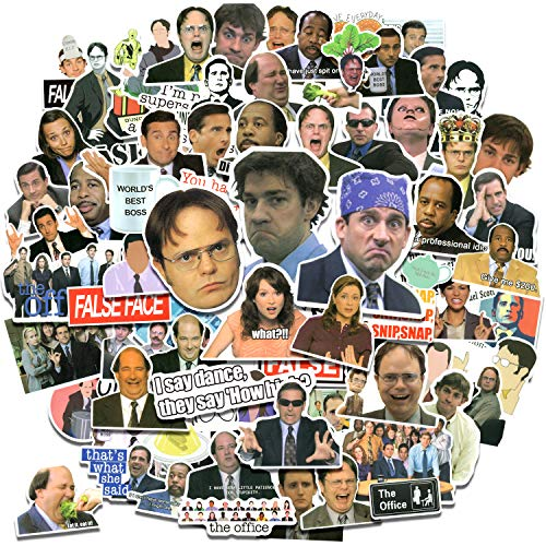 100pcs The Office Merchandise Stickers, The Office TV Show Stickers for Laptop HydroFlask Water Bottle Phone Case Luggage