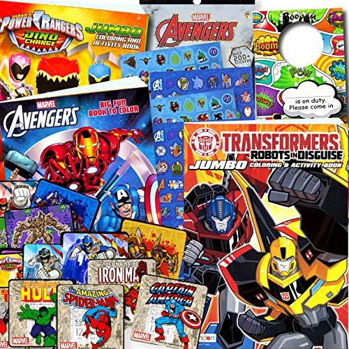 Classic Superheroes Coloring Books Bundle