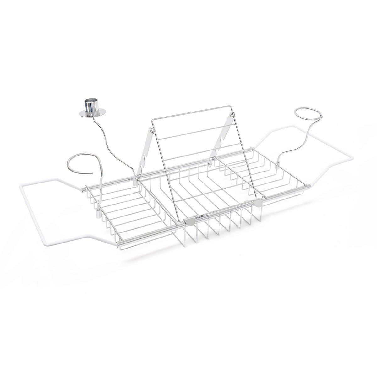 Bandeja de baño Metal–Extensible 62–90cm––Mampara–Repisa–Bañera bañera quantio