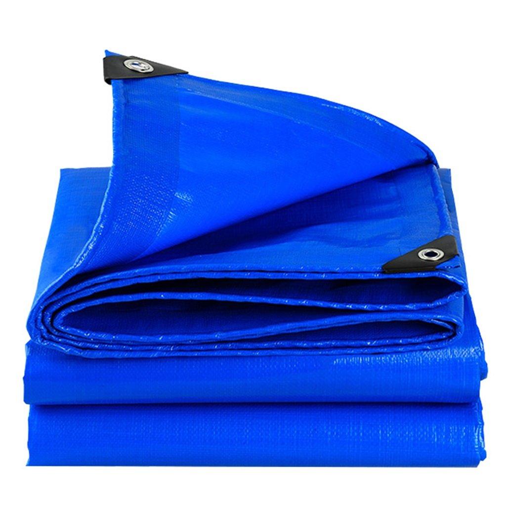 JNYZQ Regenschutzstoff PET, Starke Blaue Wasserdichte Sonnenschutzplane im Freien (größe   4MX4M)