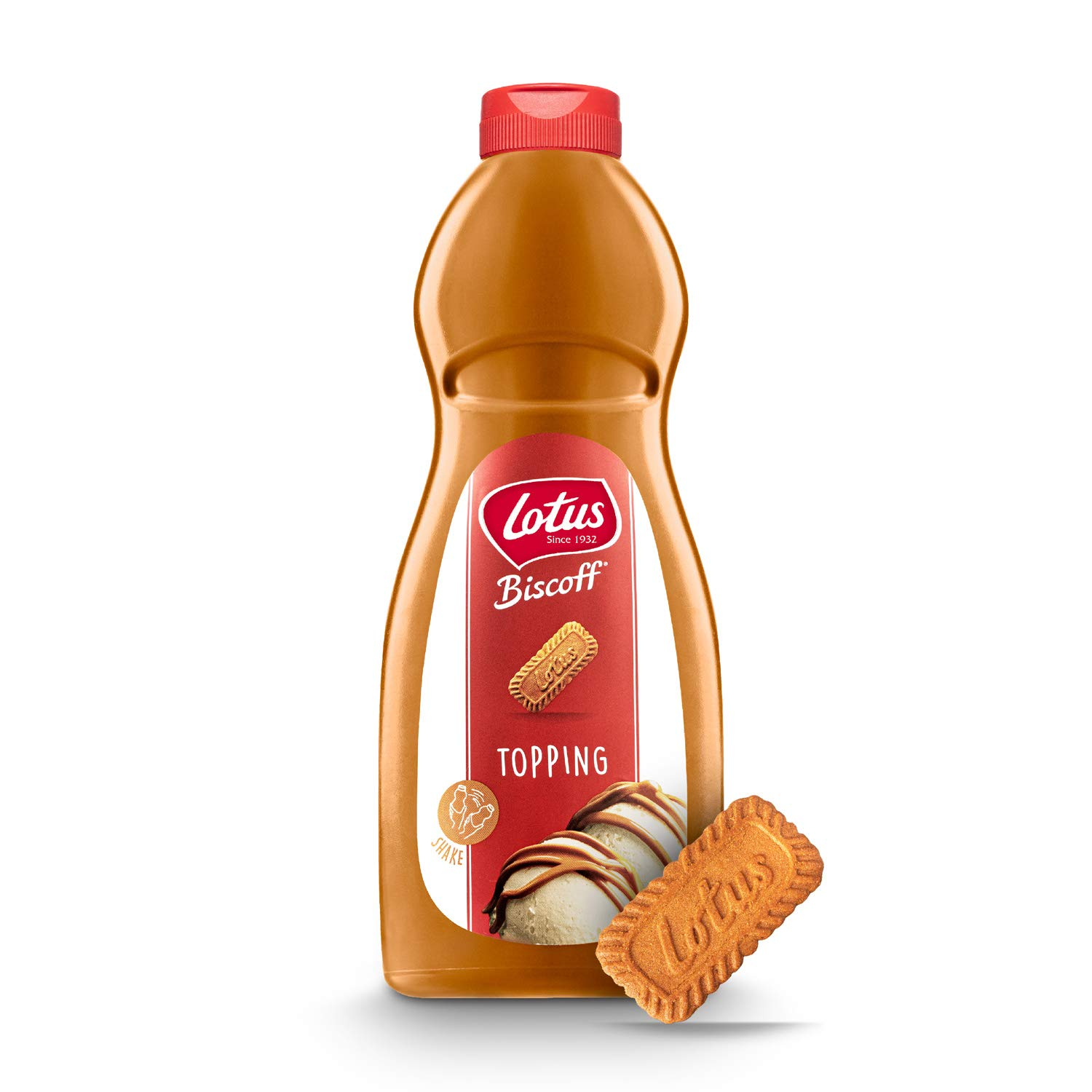 Biscoff Lotus Topping Sauce, 1kg Squeezy Bottle