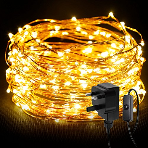 -[ LE 20m 200 LED String Light Waterproof Copper Wire Fairy Starry Lights Firefly Lights Warm White