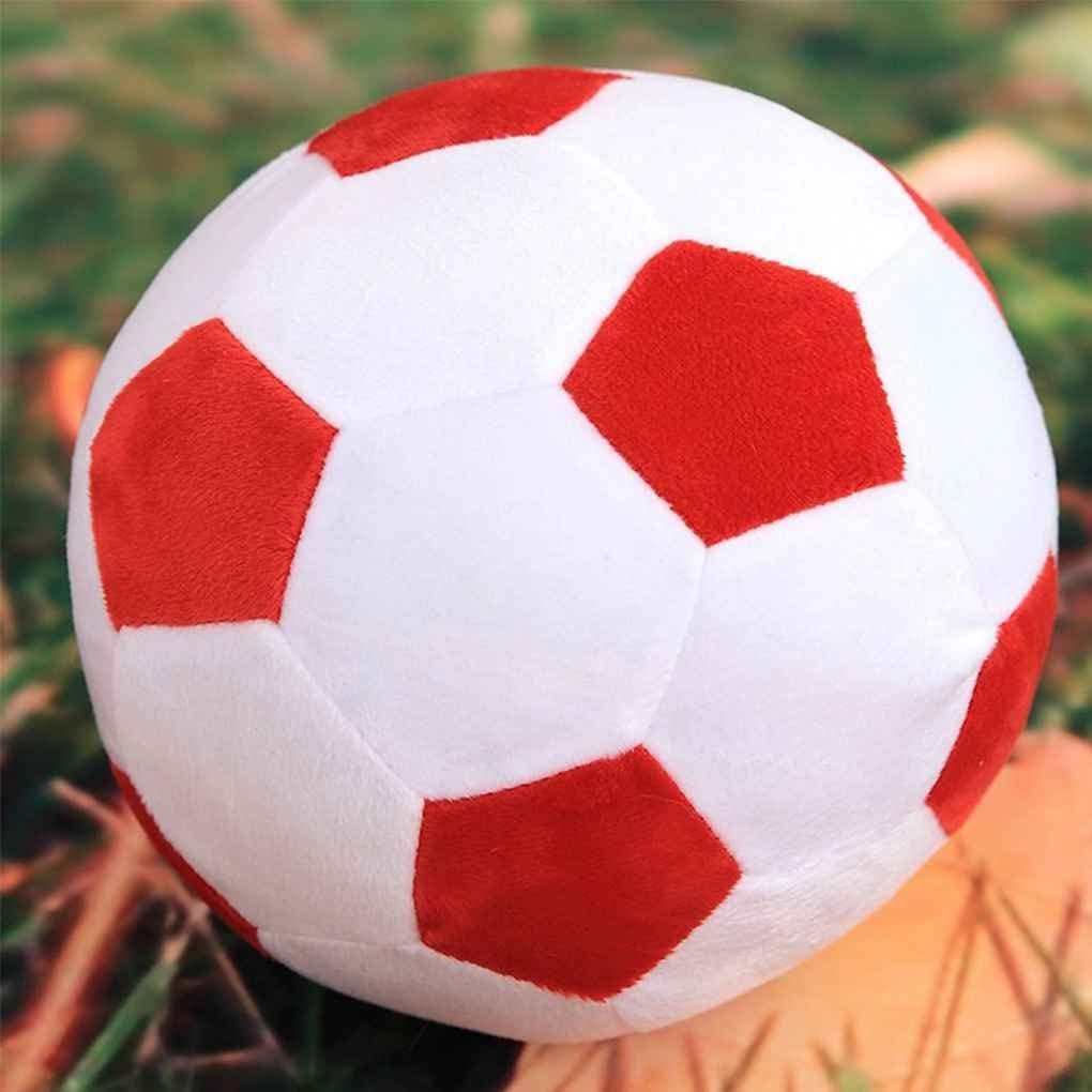 Peluche de balón de fútbol con dibujos animados para bebé, fútbol ...