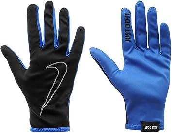 Mens Genuine Nike Hi-Vis Reflective Rally Running Gloves (Black/Royal,  Medium