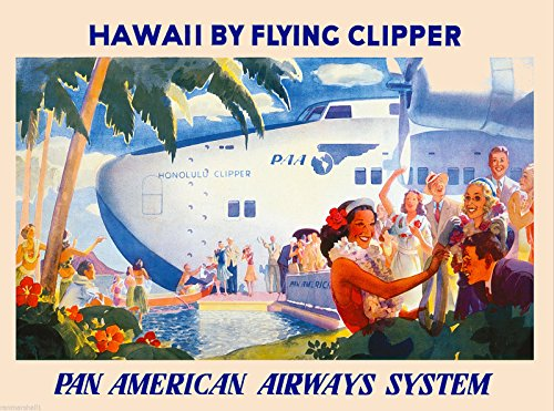 Clipper Honolulu (MAGNET 1950s Honolulu Clipper Hawaii Hawaiian Vintage U.S. Travel Advertisement Magnet)