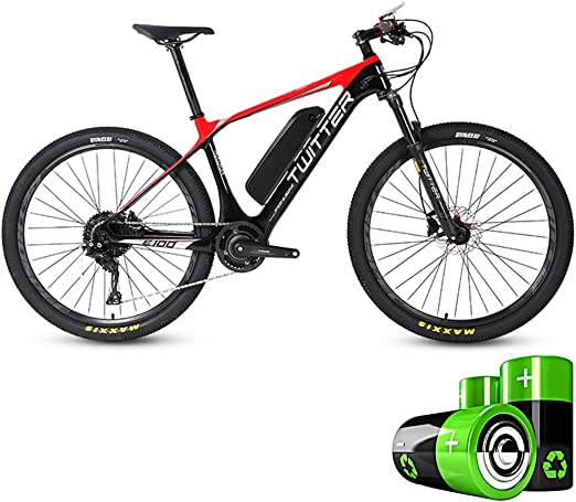 HJHJ Bicicleta de Pedal eléctrica Bicicleta de montaña híbrida ...