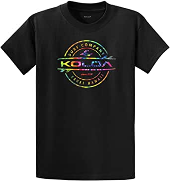 Koloa Surf Rainbow Circle Thruster Logo Cotton T-Shirt Black/c-2XLT