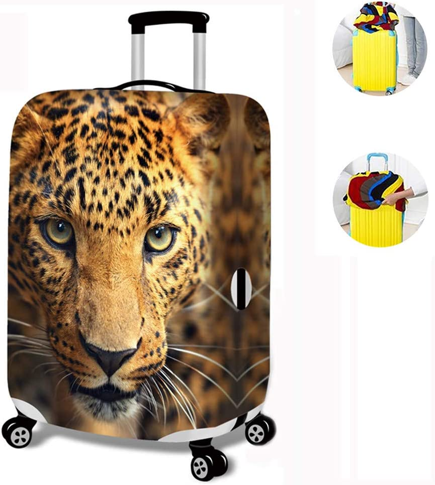 Suitcase Protector Cover Dustproof for men Animal Pattern Polyester Luggage Cover Protector Suitcase Cover Luggage Protector Elastic Washable Anti-Scratch,B-L Suitcase Covers Lion Pattern