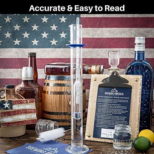 3 x ALCOHOLMETER 1 x BEAKER VINE WHISKEY BEER MOONSHINE VODKA PROOF SET 4 ITEMS