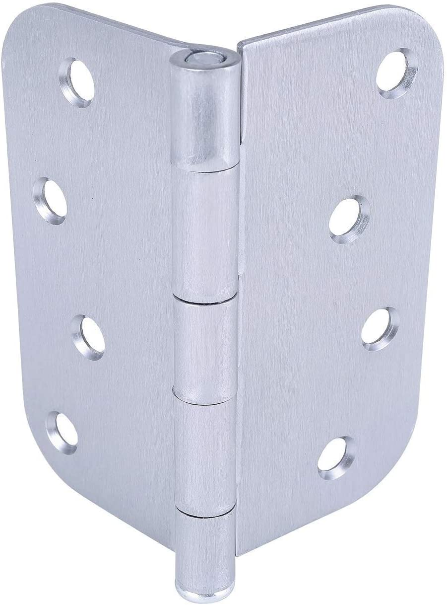 5//8 Radius Corner by Dependable Direct Satin Chrome Finish 4 Inch Pack of 1 Residential Door Hinge