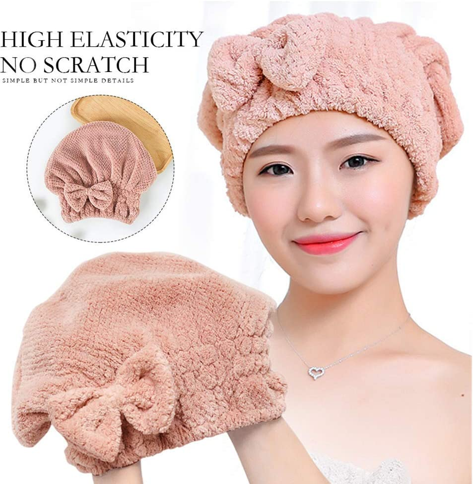 Rapid Quick Drying Hair Absorbent Towel Cap Soft Thick Shower Hat Hair Dryer New