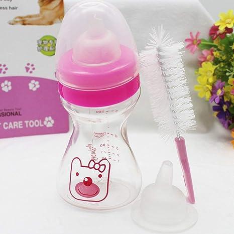 Heaviesk Biberones de plástico para Animales no tóxicos, Mascotas, Gatos, Perros, bebés