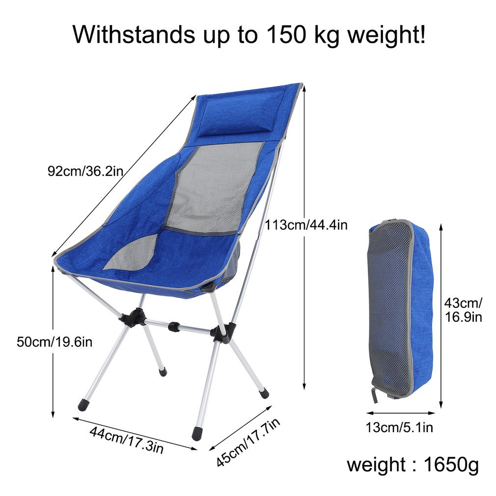 U-HOME Chaise Pliante Camping Ultra-léger Aluminium Chaise Camping pour Pique-Nique//Randonnée//Pêche//Grill//Plage avec Sac de Transport U-Homeweee