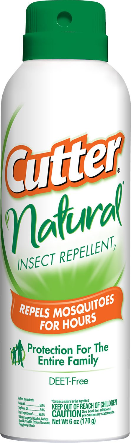 Cutter Natural Insect Repellent2, Aerosol, 6-Ounce, 12-Pack by Cutter