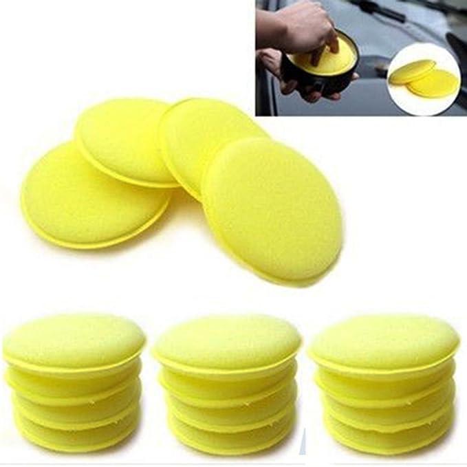 Pulido con Cera Esponja De Espuma Aplicador Almohadillas para Limpiar Coches Vehículo Vidrio: Amazon.es: Coche y moto