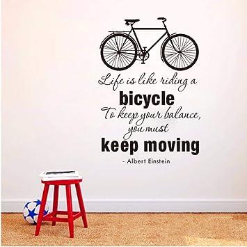 Zjxxm La Vida Es Como Andar En Bicicleta Mantener En Movimiento ...
