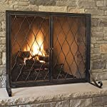 Pleasant Hearth Stonewall Fireplace Screen, Gun Metal from GHP Group, Inc.