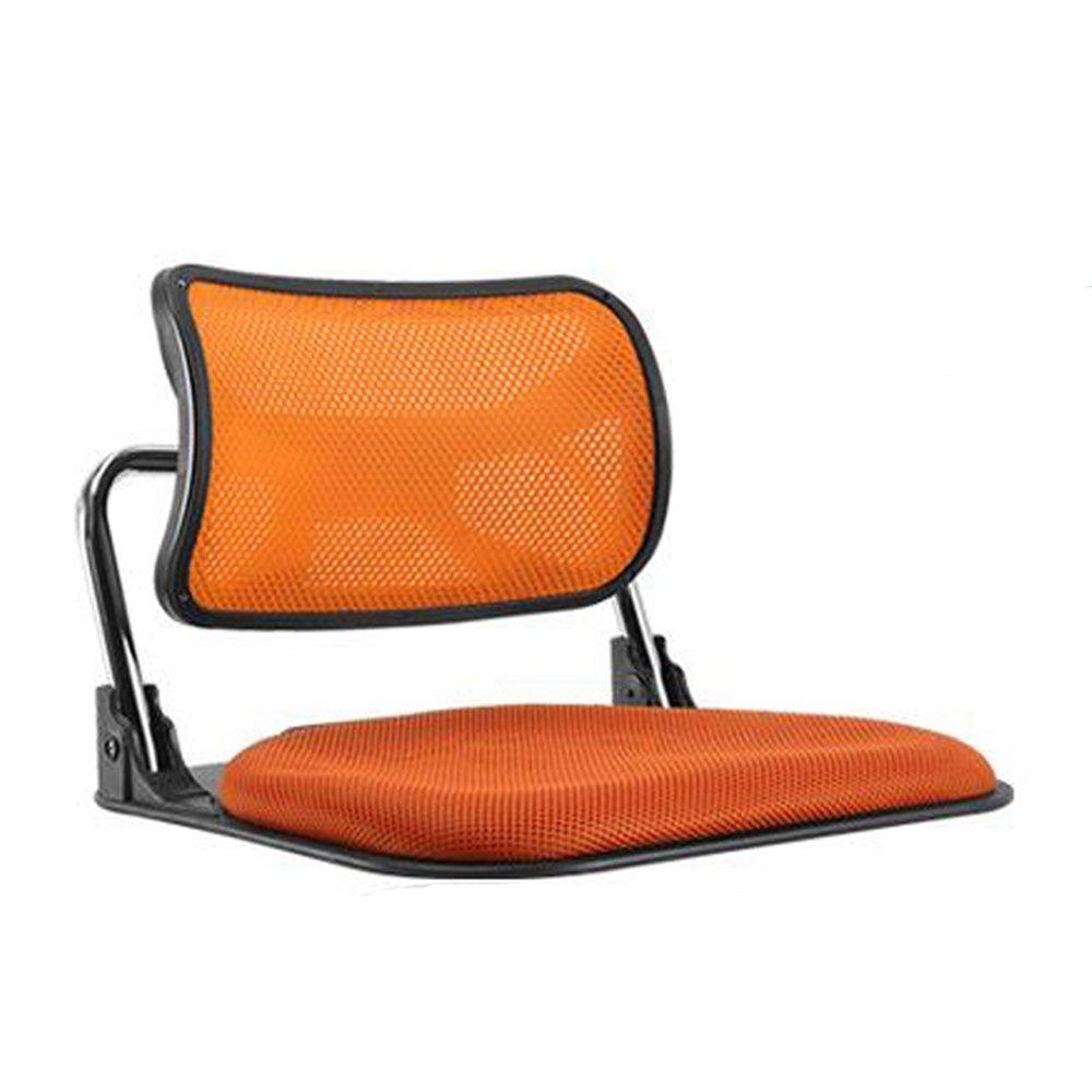 [エネックス] Enex Roy ロイ メッシュ 折りたたみ 座椅子 (Orange) [並行輸入品] B01BCEC3IY Orange Orange