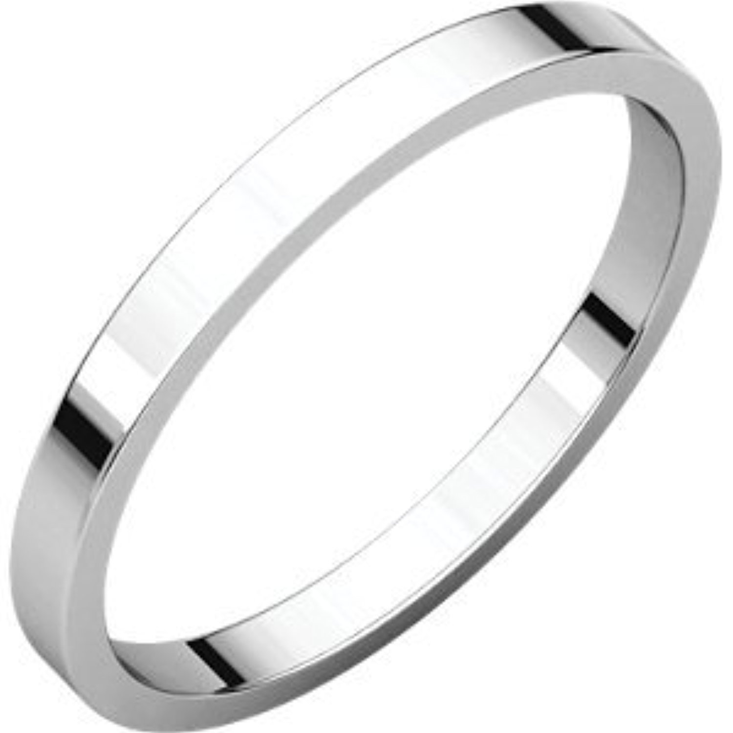 Sterling-silver Flat Bands